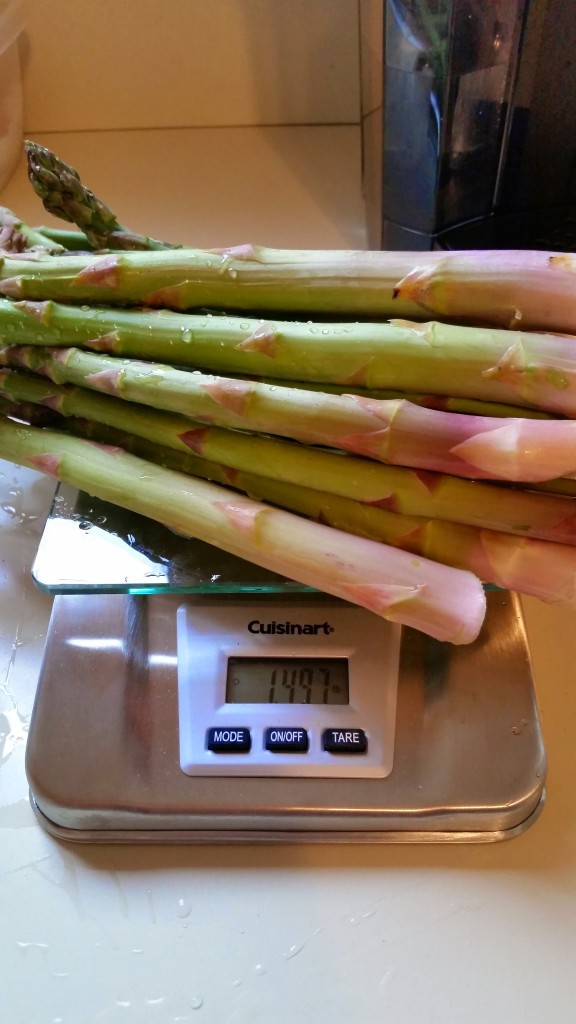 Asparagus fresh from the backyard
