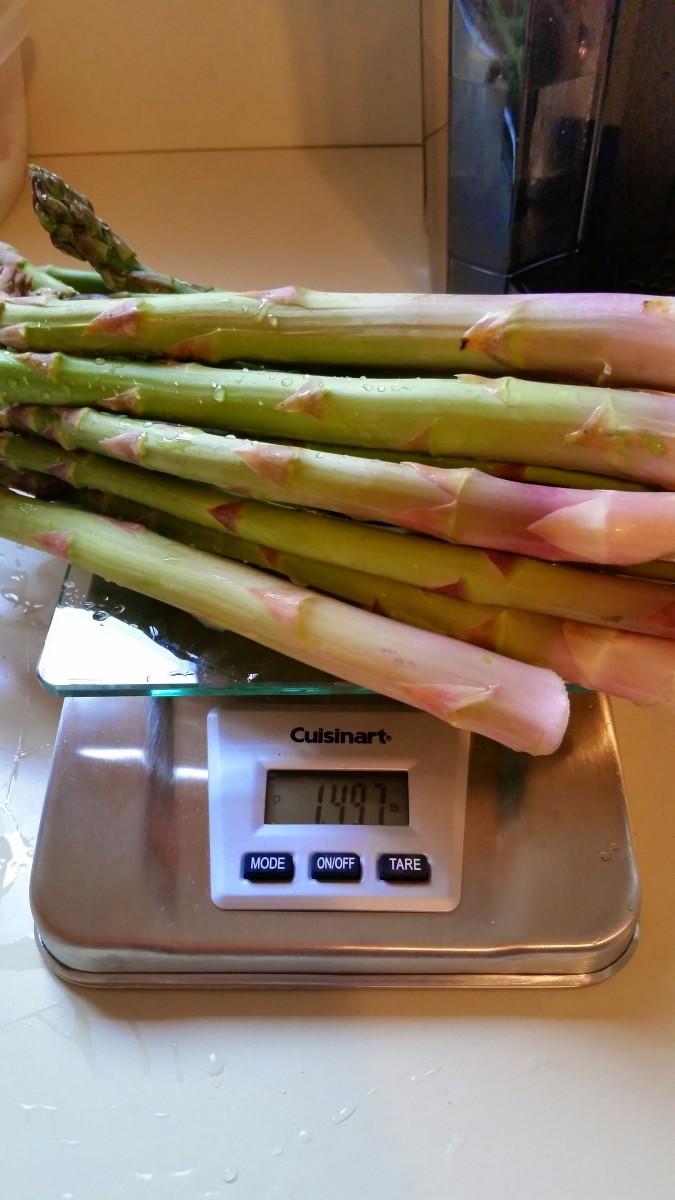 Asparagus fresh from the backyard