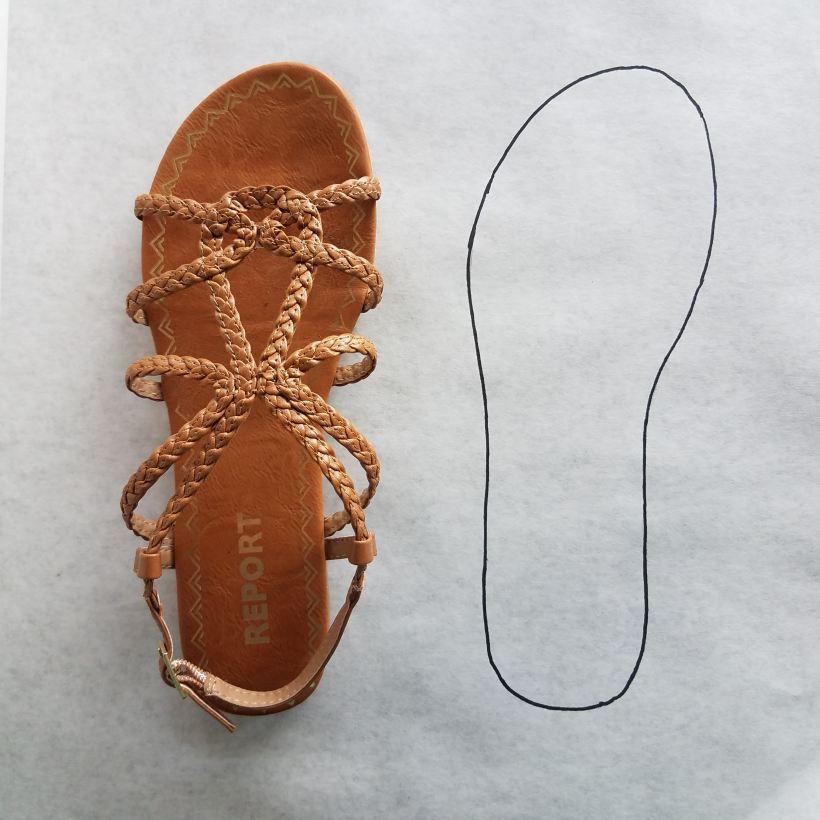 Sandal tracing - terrible idea!