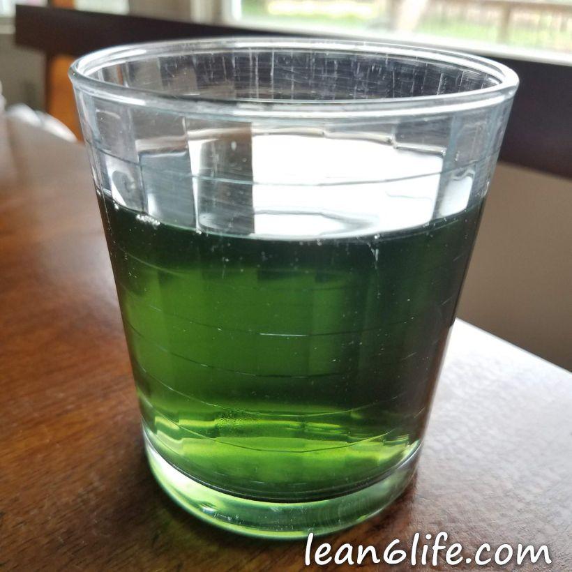 Emerald green stinging nettle tea