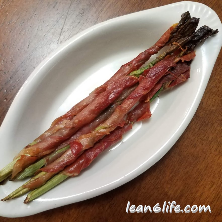 Prosciutto Wrapped Milkweed Shoots