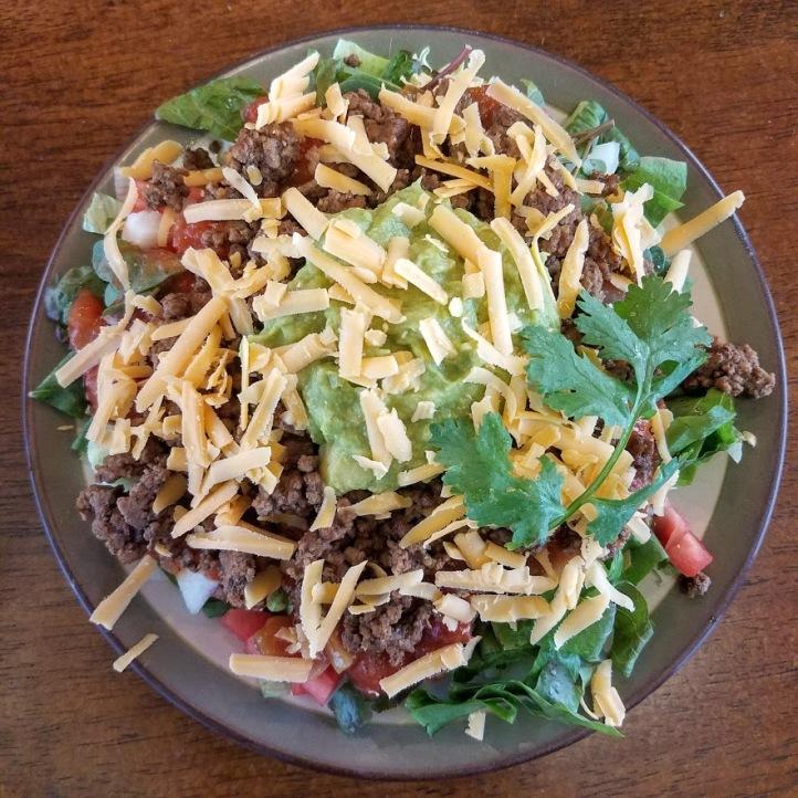 Leftover Beef Taco Salad