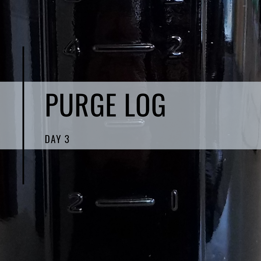 Purge log day 3: Do I dare to dump the inky-black nocino liqueur?