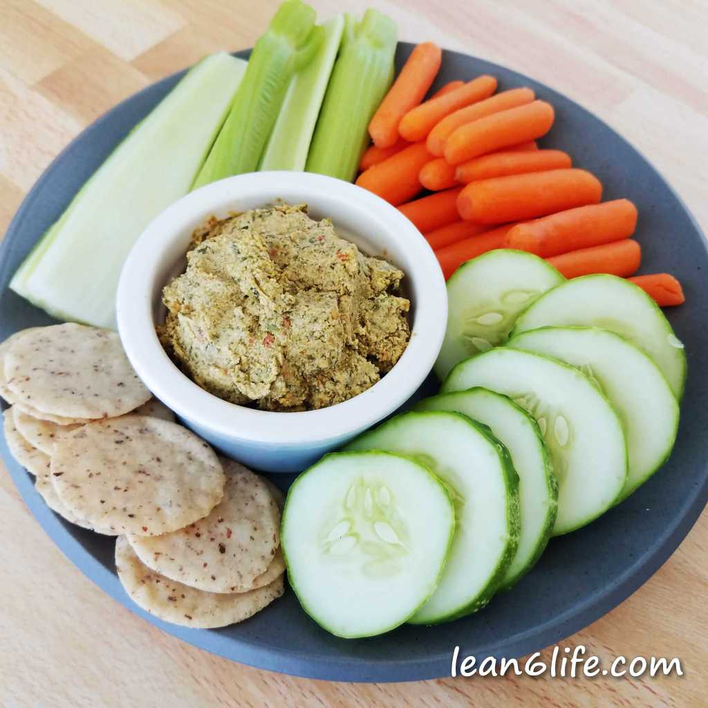 Milkweed dip for veggies and crackers (or eating straight with a spoon!)