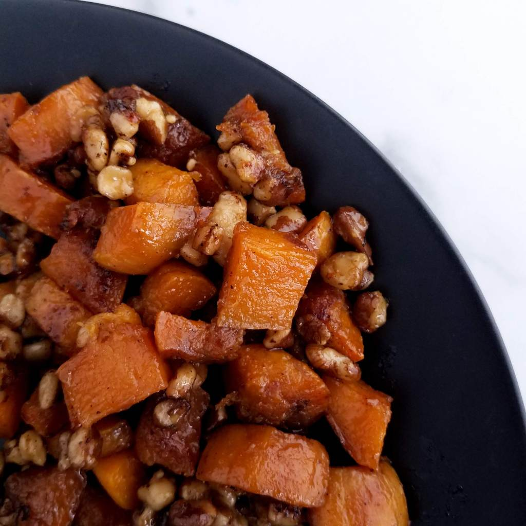 Spicebush roasted butternut squash is a simple and tasty way to start using spicebush