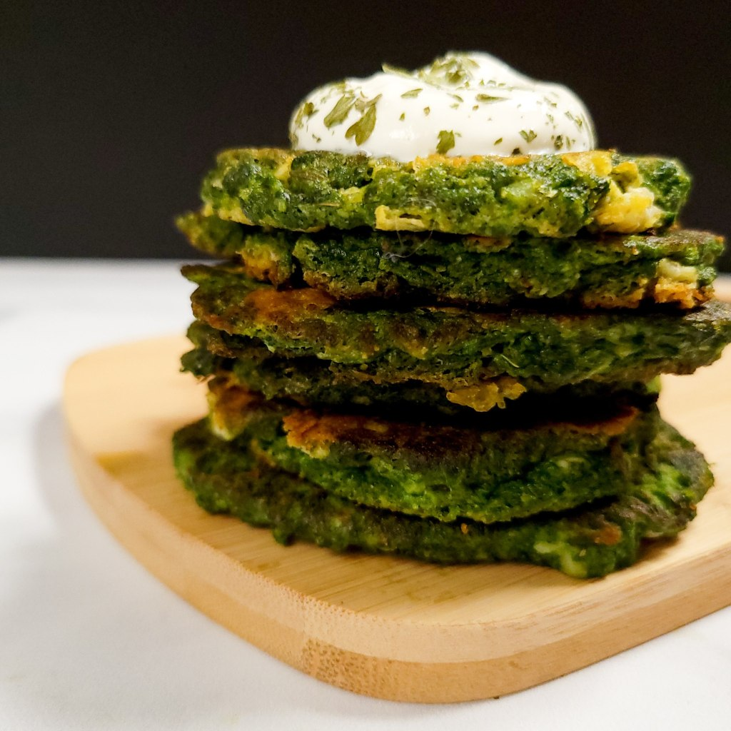 Spring green fritters are a healthy and tasty way to showcase wild greens