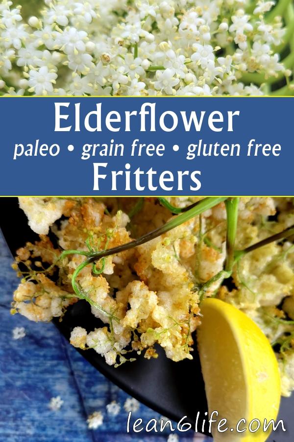 Elderflower fritters - a crunchy paleo springtime treat!